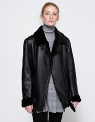 Just Female Chin Shearling Jacket Black