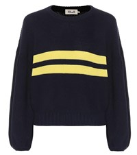 Baum Und Pferdgarten Celeste Cotton Blend Sweater Blue