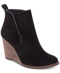 Lucky Brand Women's Yameena Wedge Booties Women's Shoes Black