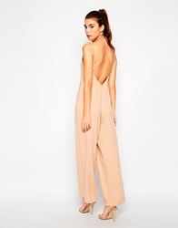 Love High Neck Jumpsuit With Low Back Beige