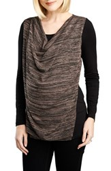 Women's Maternal America Cowl Neck Nursing Top