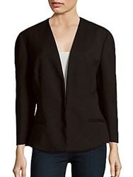 Narciso Rodriguez Solid Long Sleeve Blazer Black
