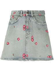 Miu Miu Embroidered Denim Skirt 60