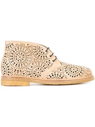 Alaia Perforated Desert Boots Brown
