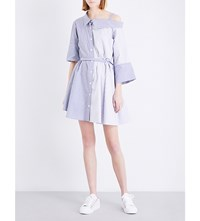 Limi Feu Dropped Shoulder Cotton Poplin Shirt Dress White