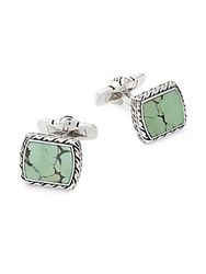 Effy Men's Square Sterling Silver And Turquoise Cuff Links