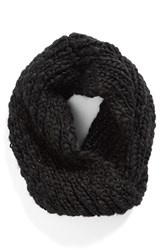 Women's Collection Xiix 'Roving Yarn' Twisted Cowl Scarf Black Black Paint