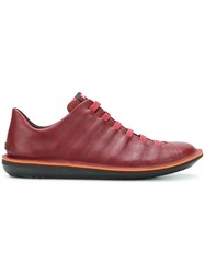 Camper Casual Lace Up Sneakers Red