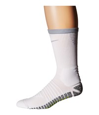 Nike Grip Strike Cushioned Crew White Wolf Grey Wolf Grey Crew Cut Socks Shoes Gray