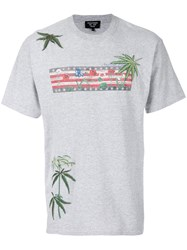 Creatures Of The Wind Leaf Embroidered T Shirt Cotton Grey