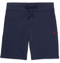 Polo Ralph Lauren Loopback Cotton Blend Jersey Shorts Navy