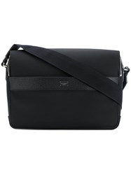 Dolce And Gabbana Flap Messenger Bag Men Cotton Calf Leather Polyamide One Size Black