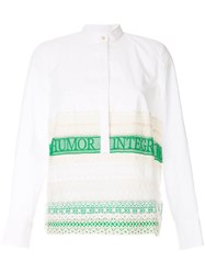 Tory Burch Lace Trim Shirt White