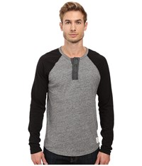 Lucky Brand Grey Label Color Block Henley Black Men's Clothing