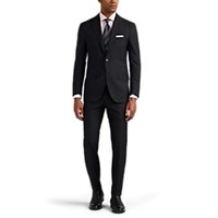 Sartorio Pg Worsted Wool Two Button Suit Charcoal