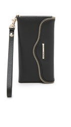 Rebecca Minkoff Leather Folio Iphone 6 6S Wristlet Black