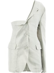 Moohong One Shoulder Jacket Grey