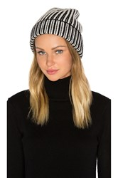 Free People Berkley Two Tone Beanie Black And White
