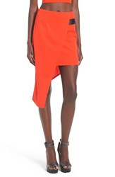 Women's Missguided Asymmetrical Wrap Midi Skirt