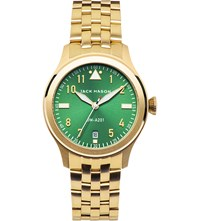 Jack Mason Jm A201 007 Aviation Yellow Gold Plated Stainless Steel Watch