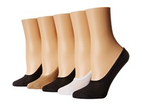Steve Madden 5 Pack Black Nude Mesh Footie Black Nude White Women's No Show Socks Shoes Multi