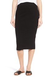 James Perse Women's Rib Body Con Midi Skirt