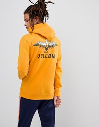 Volcom Hoodie With Pelican Back Print Yellow
