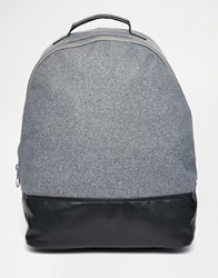 Asos Backpack With Chunky Metal Zip Black