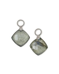 Jude Frances Labradorite Cushion Earring Charms Judefrances Jewelry White Gold