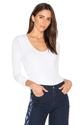 Atm Anthony Thomas Melillo V Neck Bodysuit White