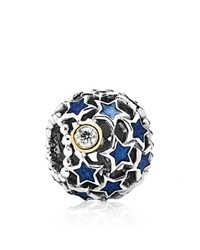 Pandora Design Pandora Charm Sterling Silver Enamel And Cubic Zirconia Night Sky Moments Collection Blue Silver