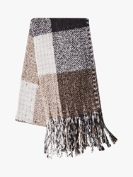 French Connection Check Scarf Brown Multi