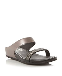 Fitflop Banda Roxy Embellished Wedges Pewter