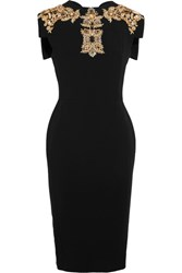 Antonio Berardi Embellished Stretch Cady Dress Black