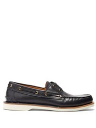 Gucci Delta Leather Deck Shoes Navy Multi