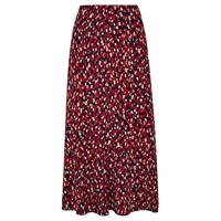 Viyella Animal Print Jersey Skirt Red