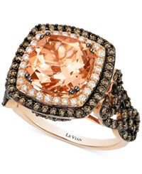 Le Vian Morganite 2 9 10 Ct. T.W. And Diamond 1 1 3 Ct. T.W. Ring In 14K Rose Gold