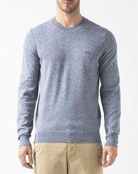 Lacoste Blue And White Two Tone Round Neck Jumper
