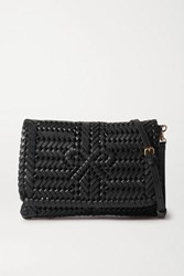 Anya Hindmarch Neeson Woven Leather Shoulder Bag Black