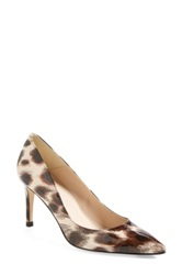 Lk Bennett 'Floret' Leather Leopard Print Patent Pointy Toe Pump Women Brown