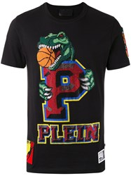 Philipp Plein Embellished Logo T Shirt Black