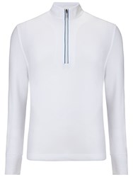 Callaway Waffle Plain Half Zip Neck Jumpers White