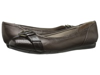 Lifestride Nero Bronze Snake Patent Vinci Women's Flat Shoes