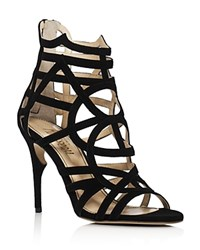 Jerome C. Rousseau Greco Caged High Heel Sandals Black