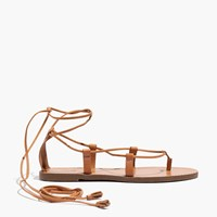 Madewell The Boardwalk Lace Up Sandal Desert Camel