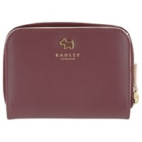 Radley Archer Street Leather Medium Zip Around Purse Burgundy