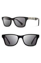 Shwood 'Canby Newspaper' 54Mm Polarized Sunglasses Black Newspaper Dark Grey