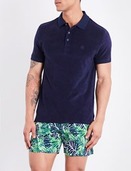 Vilebrequin Pacific Towelling Polo Shirt Navy