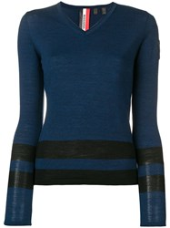 Rossignol Knit V Neck Sweater Blue