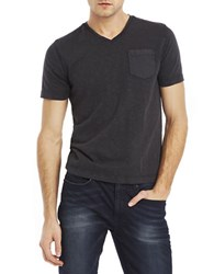 Kenneth Cole Acid Washed Pocket T Shirt Black